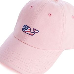 Vineyard Vines Pink Flag Whale Hat - Like NEW